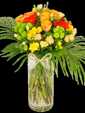 Bouquet jaune orange Aurore