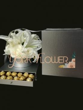 Box chocolat fleur